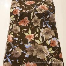 2016 Impresión de tejidos de algodón de lino