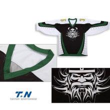 Maillots de hockey sur glace sur mesure Sublimation / Tackle Twill / Jersey de hockey personnalisé sur hockey brodé