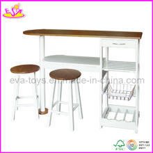 Wooden Table and Stools (WO8G084)