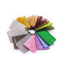 Holographic marble purple green gold 3mm sand glitter acrylic sheet for decoration