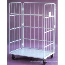 Alambre almacenamiento de jaula de malla con ruedas (SLL07-L005)