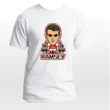 2014 new EPL club team Arsenal soccer fan ramsey cartoon t-shirts