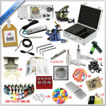 2015 hot sale Starter tattoo kit, low price Beginner Tattoo Kit,china manufacturer permanent tattoo machine kits