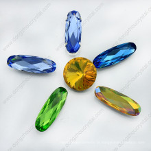 Cristal ponto volta longa oval bead (dz-3014)