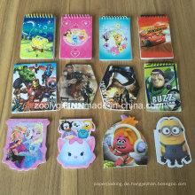 Kundenspezifische Die-Cut Mini-Tasche Mini-Notizblock Werbegeschenk Notebook-Pad