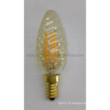 O ouro coloriu C35 torceu o bulbo do filamento do diodo emissor de luz 3.5W