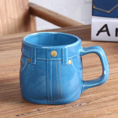 jean shape coffee mug