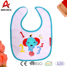 polyester cotton cute cartoon print baby drool bibs