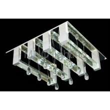 modern aluminum LED crystal ceiling lamp