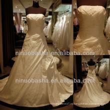 Вопрос-6250 Тафта Свадебные Платья Аппликация Оболочка Свадебное Платье