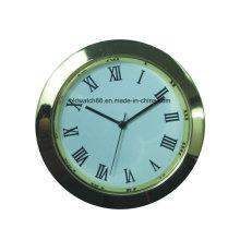 Reloj Mini Reloj de Metal de Plata Insertar Reloj Reloj Temporizador Reloj de Regalo