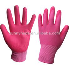 13Gauge guantes de jardín recubiertos de PU