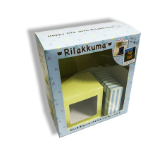 Grandes cajas de embalaje de regalo con ventana de PVC.