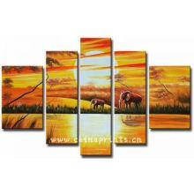 Абстрактная картина Слон декоративная живопись маслом