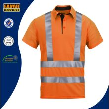 Men Short Sleeve Hi Vis Polo Work Shirt