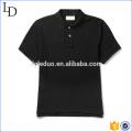 Hommes de polo de golf de piqué de coton noir 100% coton en gros en Chine