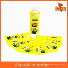 China factory excellent heat sensitive customizable cosmetic label design with your logo