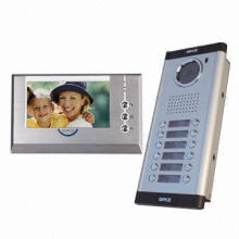 Door Entry System for 2 to 16 Apartments, Two-way Intercom, IR six LED Lights, Metal Housing