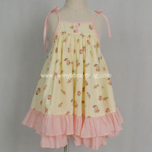 Boutique summer floral causal baby girl dress