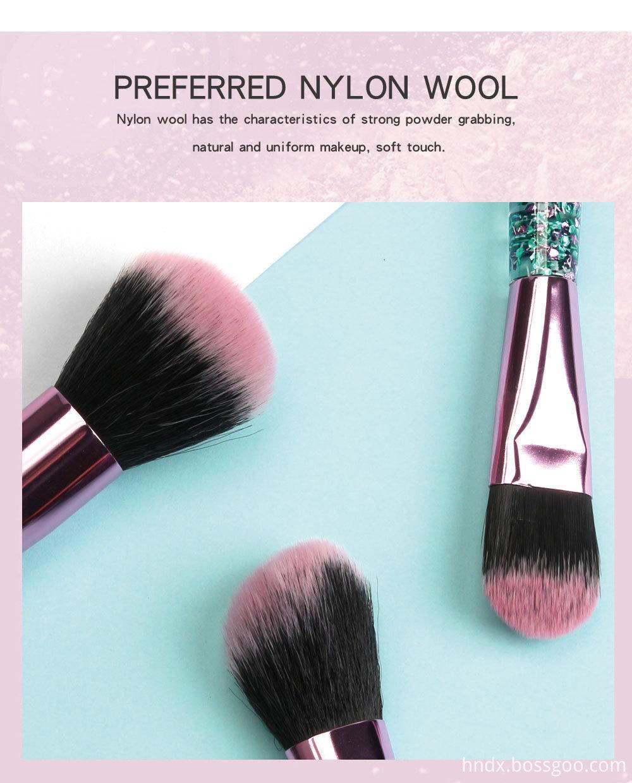 Crystal Rhinestone Makeup Brushes Set 2-1