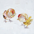 Watercolour Cartoon Chicken Canvas Print