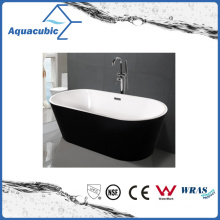 Black Surround Oval Free-Standing Acrylic Bathtub (AB1507B)