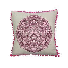 Hot Sale rose red canvas cushion