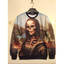 Mona Lisa Skull Printed Shirt Long Sleeve