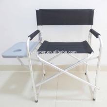 Cadeira do diretor dobrável com mesa lateral e saco / 600D Cadeira puxável Oxford Fabric para cadeira de escritório portátil portátil portátil portátil