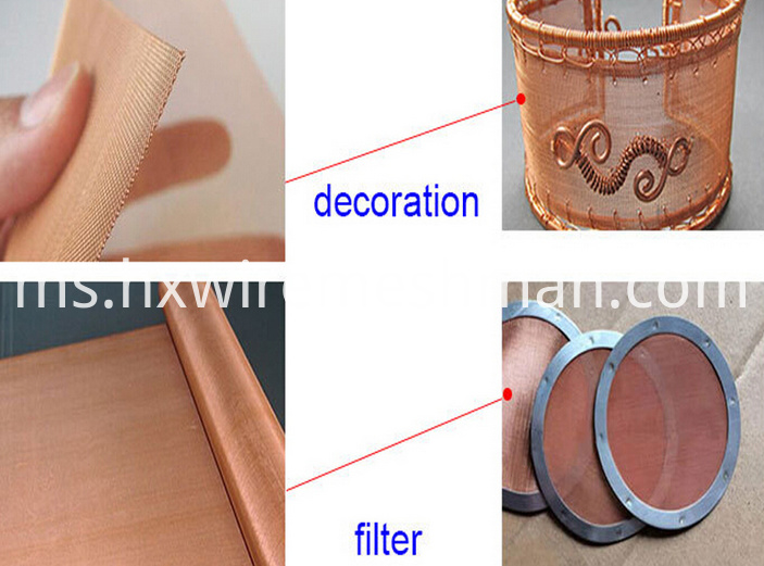 red copper wire cloth use