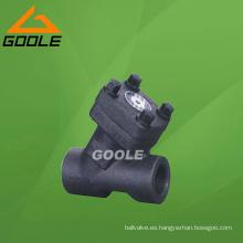 Válvula de retención tipo Y de acero compacto (GAH65H)