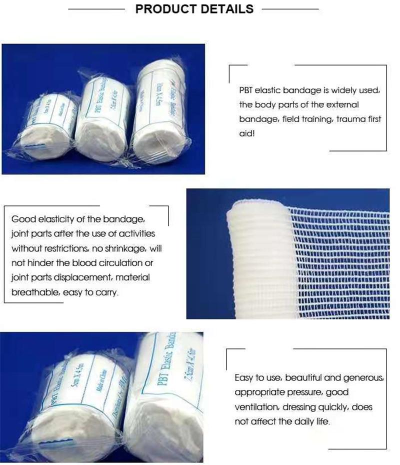 First Aid Medical Plain Elastic PBT Bandage