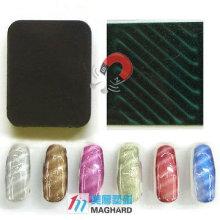 Aimant magnétique de l'art des ongles Rectangle arrondi Bande oblique