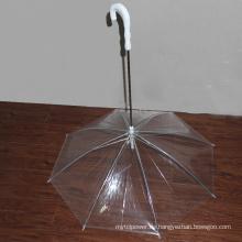 Transparente PVC-Haustier-Hunderegenschirm-spezielle Form