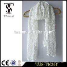 Léger à la mode choix populaire écharpe à lacets blanc polyvalent toute l'année