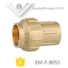 EM-F-B055 Espanha Em linha reta Único encaixe de tubulação de bronze de junção de compressão