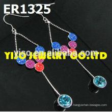 Boucles d'oreilles en cristal de bijoux de mariée