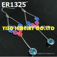 Brincos de cristal de jóias de noiva