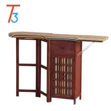 Tablero plegable antiguo de madera gabinete tablas de planchar