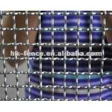 Maille métallique crêpée / grillage carré / treillis métallique tissé