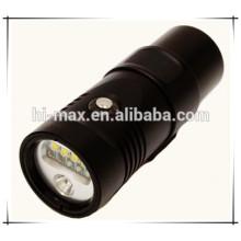 Lampe de plongée vidéo rechargeable Ultra Bright Lampe de plongée grand angle