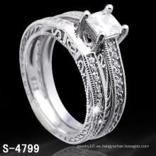 Joyería plateada plata del anillo de la manera (S-4799. JPG)