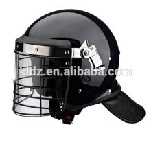 Casco antidisturbios reforzado con protector de cuello de cuero artificial