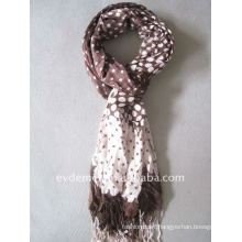 lady viscose print polka dot scarf shawl