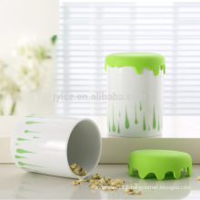 1000cc canister with silicone lid, large size