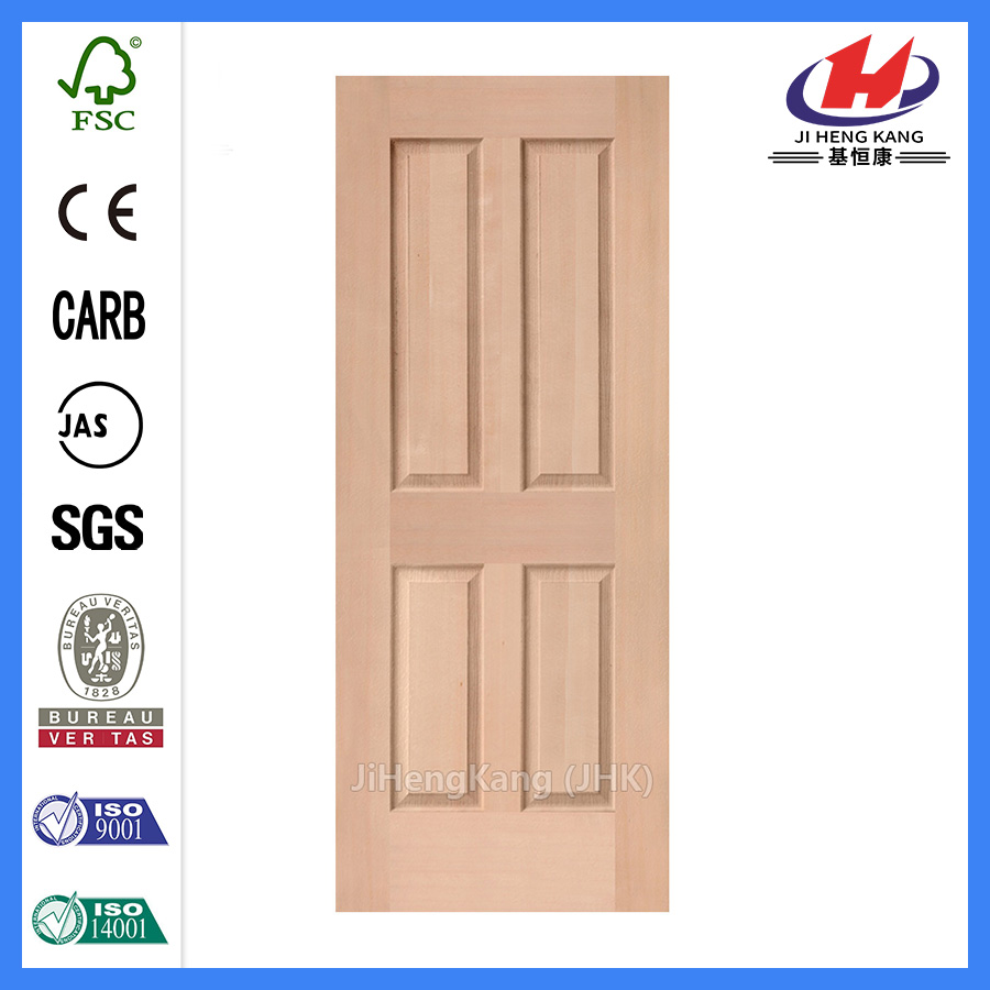 *JHK-004P White Four Panel Interior Doors White 4 Panel Door Finished White Interior Door Skin