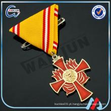 3d águia vermelho cruz medalha chaves