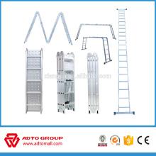 Escalera multifuncional de aluminio de alta calidad, escalera de mano, escalera multipropósito
