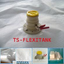 Flexitank superior do carregamento e inferior de descarga para transporte de petróleo