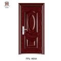 Поставка фабрики популярный стандартный размер двери стальная главная дверь дизайн